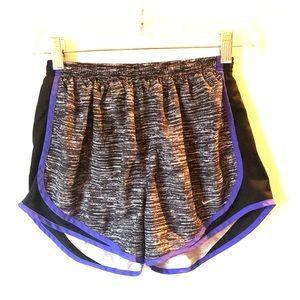 NIKE Black White Heather Purple ATHLETIC SHORTS S
